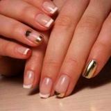 Золотий френч на нігтях: ідеї для манікюру